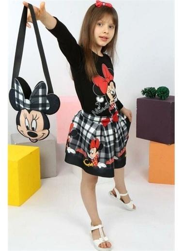 Riccotarz Kız Çocuk Çantalı Minnie Mouse Etekli Takım Siyah